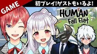 [LIVE] 【星天Game】HUMAN fall flatに挑戦!【ゲストもいるよ】