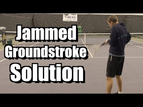 Jammed Groundstroke Solution - Forehand and Backhand Tennis Lesson - Instruction - Tips