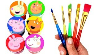 Drawing and Painting with Surprise Toys Peppa Pig Friends & Pets Creative Fun for Kids