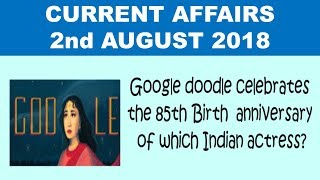 2nd August 2018 current affairs|| Current affairs in English|| for next exam||Akshara Concepts Mint