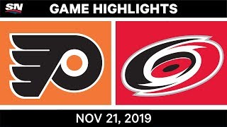 NHL Highlights   Flyers vs. Hurricanes – Nov. 21, 2019