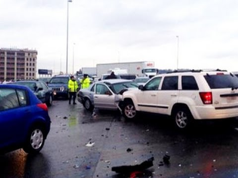 70-car pileup caused by ice