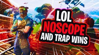 NOSCOPE AND TRAP VICTORIES ON FORTNITE! (Hilarious Kills & Fails) 2017 Video