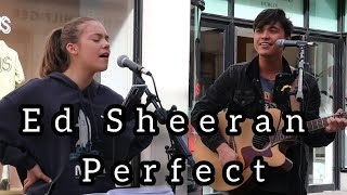 BREATHTAKING harmonies from Jacob! | Ed Sheeran - Perfect | Allie Sherlock & Jacob Koopman Cover