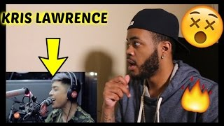 """Kris Lawrence covers """"Versace on the Floor"""" (Bruno Mars) LIVE on Wish 107.5 Bus REACTION!!"""