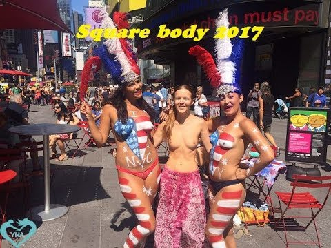 Full Times Square Body Painting body Notes - June, 2017