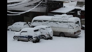 Heavy snowfall at Murree/Nathia gali 2018