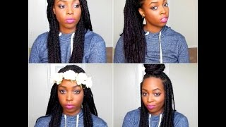 how to style box braids and twists locs 24 styles