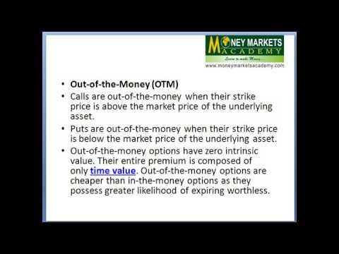 Moneyness of stock options
