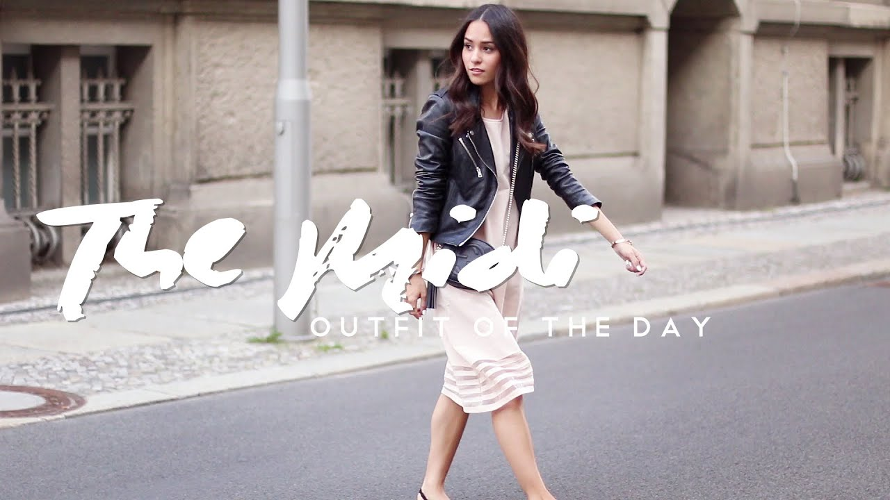 ea2143becfe9 OOTD - Outfit of the Day - The Midi Dress - YouTube