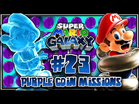 Super Mario Galaxy - Part 23 (1080p 60FPS 100%) Purple Coin Missions