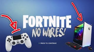 How To CONNECT Your PS4 Controller To Your PC WIRELESS! (Fortnite,Apex Legends, ETC)