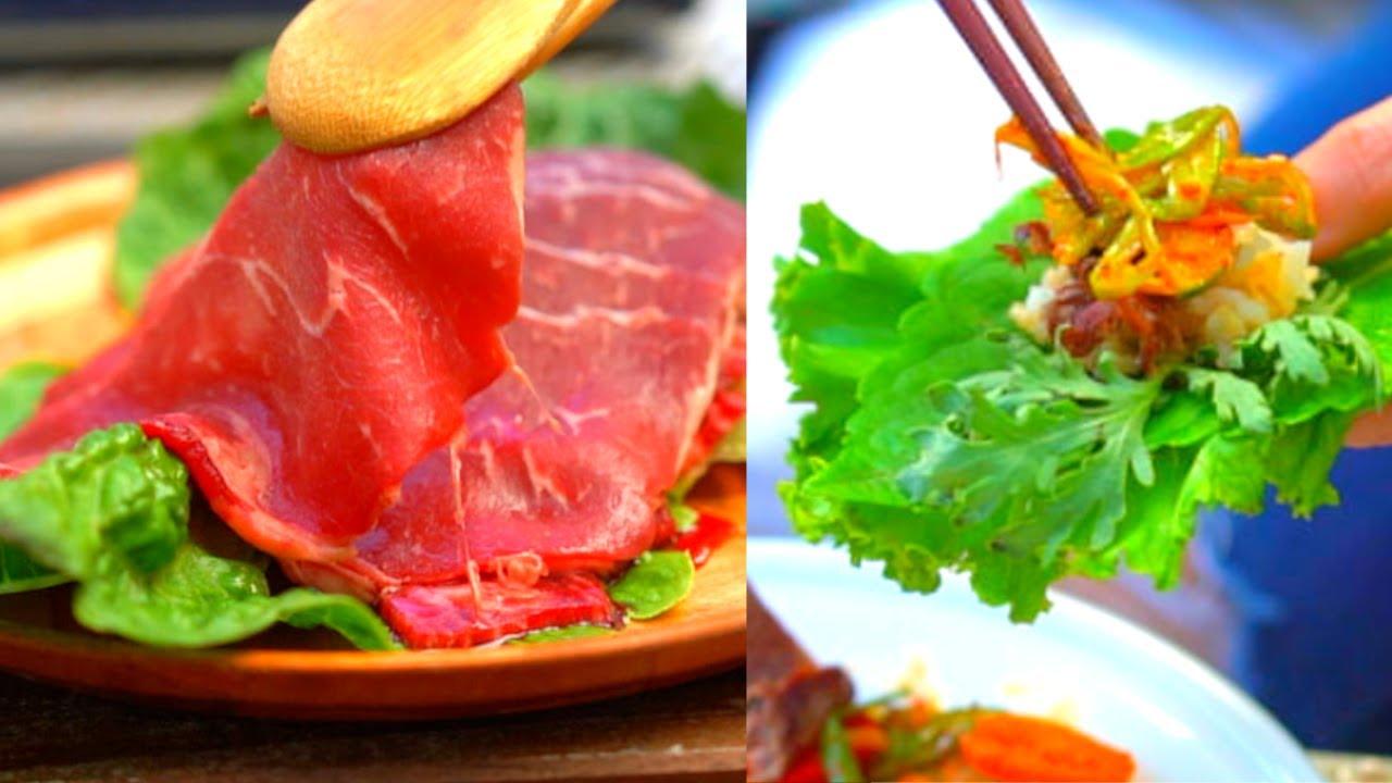 Korean BBQ (Soegogigui 쇠고기구이) NO-Marinade Korean Beef BBQ (생고기구이) Ssam 쌈 BBQ Lettuce Wrap