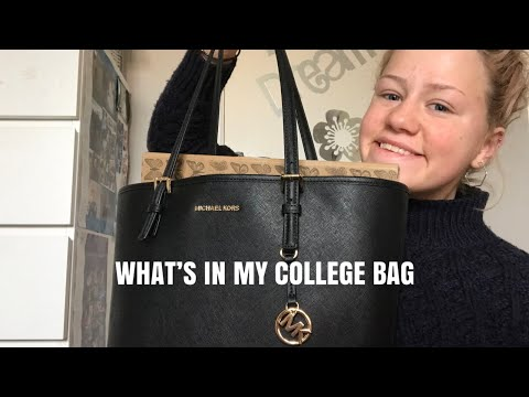 WHAT'S IN MY COLLEGE BAG  EMILY MAY