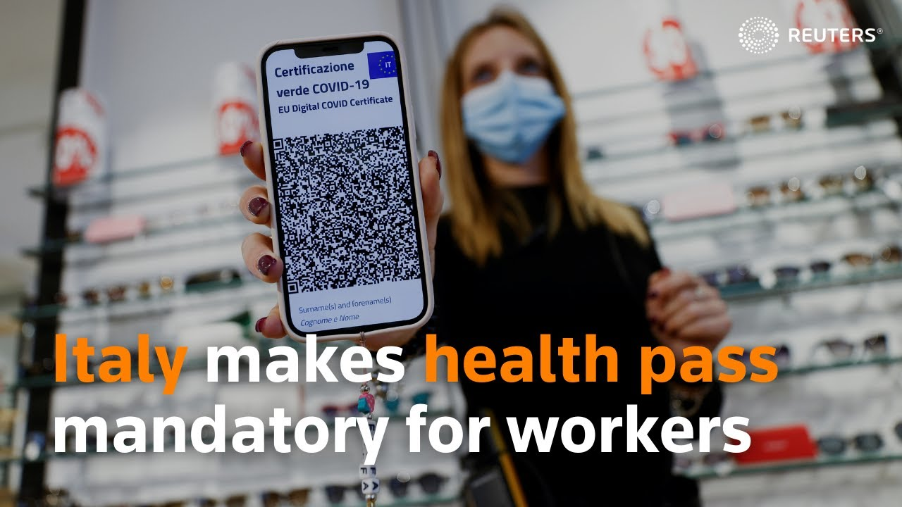 Download Italy makes health pass mandatory for workers