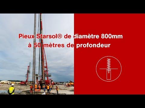 Record de pieu Starsol® à 50 m de profondeur