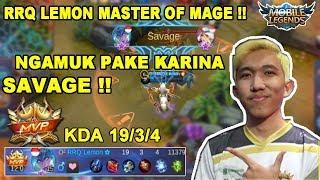Kaguranya di ambil, RRQ Lemon malah dapat SAVAGE pakai Karina !! - Mobile Legends thumbnail