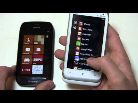 Nokia Lumia 710 vs. HTC Radar 4G Dogfight Part 1
