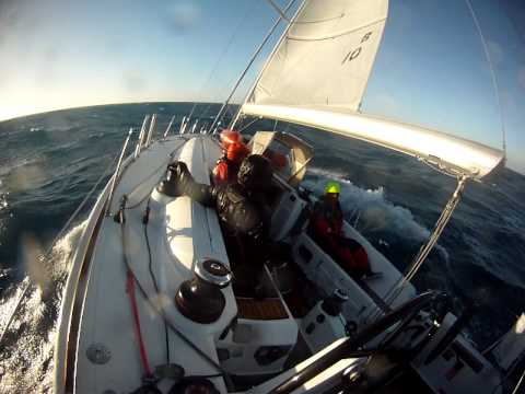 Sailing in the Bass Strait, Hobart to Melbourne, Australia
