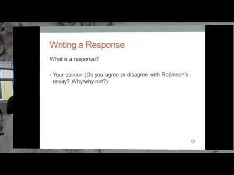 ENG 101 Summary Response Paper