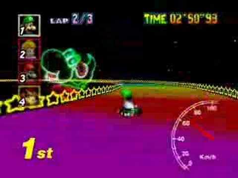 Mario Kart 64 Rainbow Road 16 16