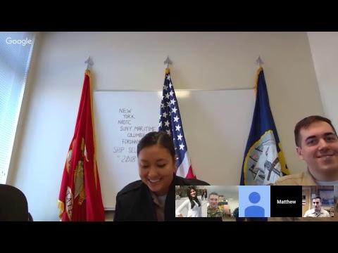 NROTC 2018 Spring Ship Selection