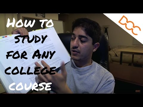 How to Study For ANY Course In College