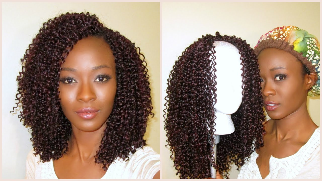Crochet Braid U-Part Wig With Knotless Leave-Out (Outre Jerry Curl ...