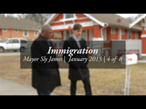 """""""Let's talk about immigration."""" -- Walk and talk wtih Mayor Sly James #4/8"""