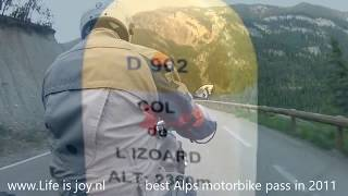 Col de L'izoard on BMW R1200GS LC motorbike traveling the French grand Alps motorcycle LV