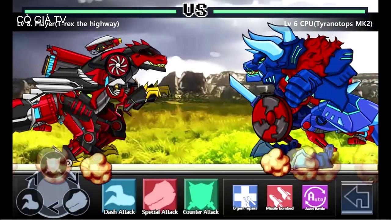 Y8 Game Dino Robot – Lắp ráp robot khủng long đại chiến – cò già tv