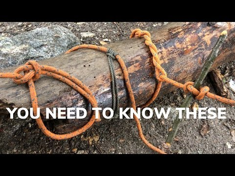 8 Essential Camp Knots and Hitches That You Need to Know