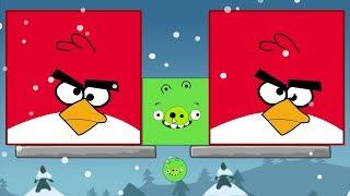 Angry Birds Kick Out Green Pigs - TINY PIGGIES TRANSFORM INTO GIANT TO KICK 2 BIG BIRDS!