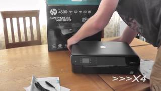 HP Envy 4500 unboxing and set up