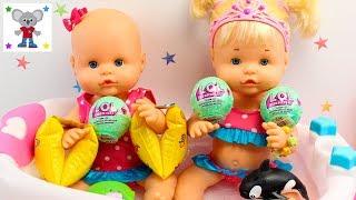 Vídeos de las Bebés NENUCO Hermanitas Traviesas Naia y Alice Baño con Muñecas LOL Examen y Picnic thumbnail