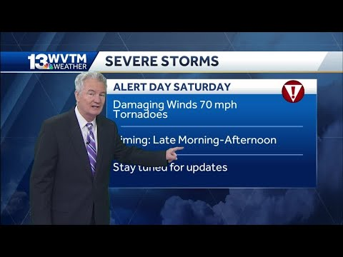 Alert Day Saturday, High Risk Of Severe Weather For Most Of Central Alabama