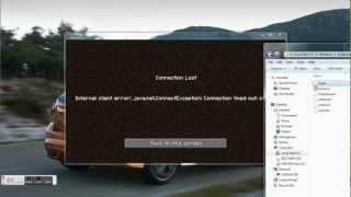 """MC/Tekkit Fix """"Internal client error: java.net.connectException: Connection timed out: connect"""""""