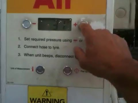 Tire Pressure Gauge >> how to use the tyre gauge at the service station - YouTube