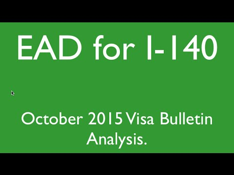 EAD for I140 - October 2015 Visa Bulletin - Analysis