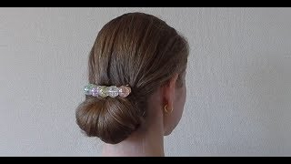 5分あればできる簡単で上品なまとめ髪 thumbnail