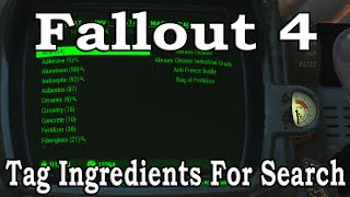 Fallout 4: Tagging Ingredients For Search