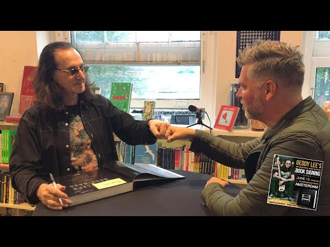 GEDDY LEE FROM RUSH -  BOOKSIGNING AMSTERDAM 13-06-2019