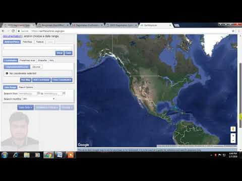 USGS REGISTRATION AND SATELLITE IMAGE DOWNLOADING