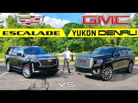 BLING BATTLE! -- 2021 Cadillac Escalade Vs. 2021 GMC Yukon Denali: Comparison