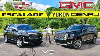 BLING BATTLE! -- 2021 Cadillac Escalade vs. 2021 GMC Yukon Denali: Comparison