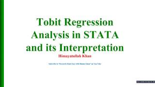 86 #Tobit #Model: Its #Theory and #Interpretation in #STATA