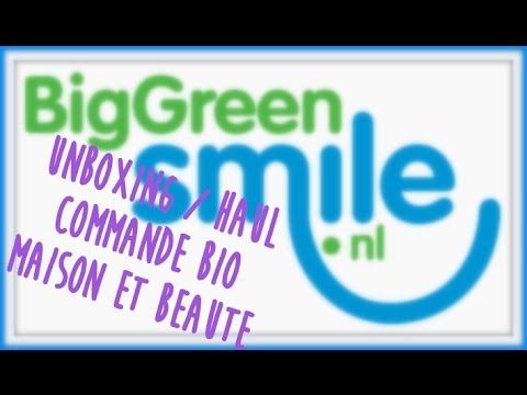 Unboxing/haul commande beauté et maison bio : big green smile