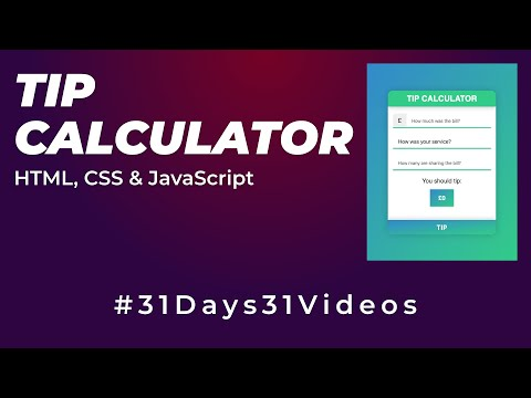 TIP Calculator Using HTML, CSS & Javascript