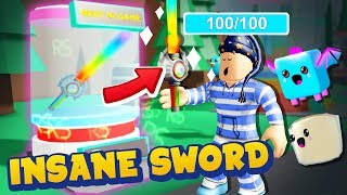 The STRONGEST ROBUX SWORD In Hero Simulator Made Me OVERPOWERED!