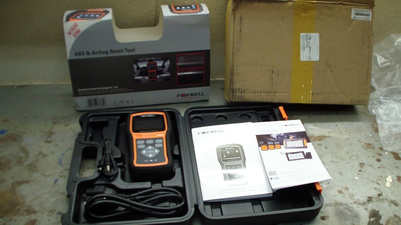 Foxwell NT630 Elite ABS and Airbag OBD Code Scanner Review